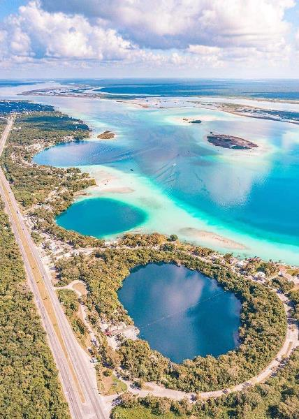 Bacalar Lagoon Tour by Airplane
